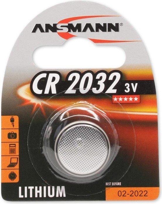 Ansmann CR2032 round cell, Lithium, 3V (5020122)
