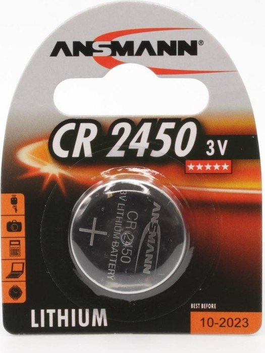 Ansmann CR2450 Knopfzelle, Lithium, 3V (5020112)