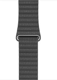 Apple Lederarmband mit Schlaufe Medium für Apple Watch 44mm schwarz (MXAA2ZM/A)