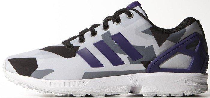 classic fit 9a0d4 b5a9f adidas ZX Flux ftwr white collegiate purple core black (men) (B34517
