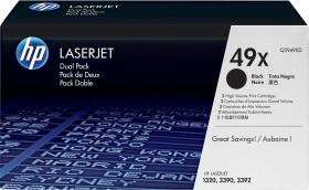 HP Toner 49X schwarz, 2er-Pack (Q5949XD)