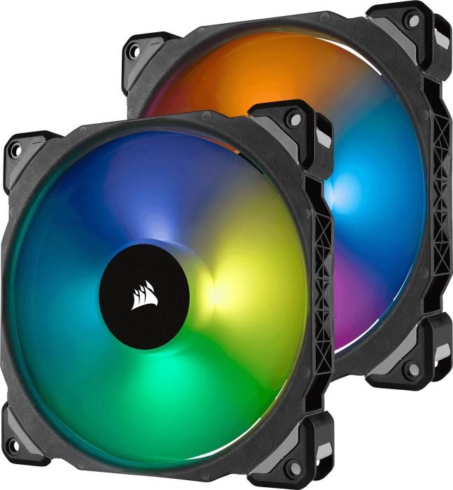 Corsair ML Series ML140 PRO RGB LED Premium Magnetic Levitation Fan, 140mm, 2er-Pack, LED-Steuerung (CO-9050078-WW)