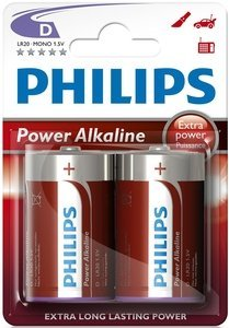 Philips PowerLife Mono D, 2er-Pack (LR20P2B/10)