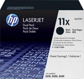 HP Toner 11X schwarz, 2er-Pack (Q6511XD)