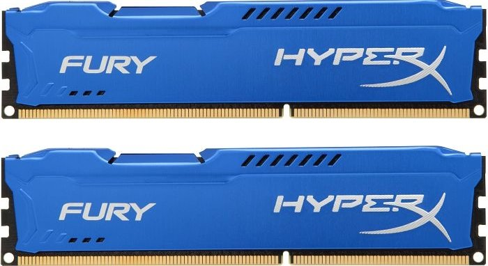 Kingston HyperX Fury blue DIMM kit 16GB, DDR3-1333, CL9-9-9 (HX313C9FK2/16)