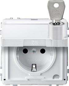 Merten Aquadesign SCHUKO-Steckdose, polarweiß (MEG2316-7219)