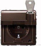 Merten Aquadesign SCHUKO-Steckdose, dunkelbrasil (MEG2316-7215)