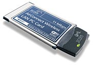 3Com 3CRWE73796B-E1 AirConnect 11Mbps Wireless LAN PC Card