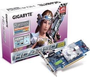 Gigabyte Radeon HD 4350, 512MB DDR2, VGA, DVI, HDMI (GV-R435OC-512I)