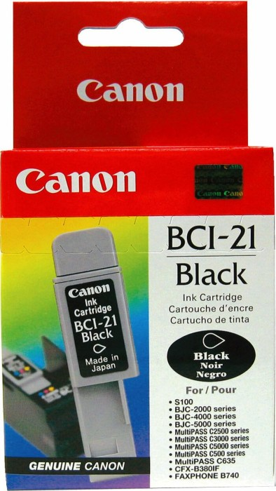 Canon ink BCI-21BK black (0954A002)