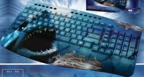 Greybusters Shark Design Keyboard, PS/2