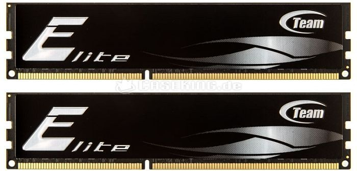 TeamGroup Elite DIMM Kit 8GB, DDR3-1600, CL11-11-11-28 (TED38GM1600HC11DC01/TED38192M1600HC11DC) -- © caseking.de