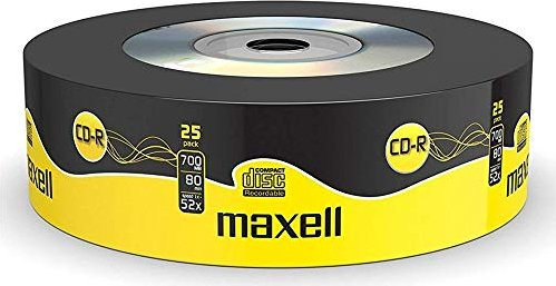 Maxell CD-R 80min/700MB, 25er-Pack -- via Amazon Partnerprogramm