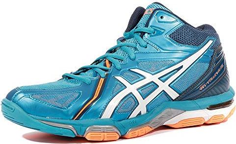 Asics gel-Volley elite 3 volleyball shoes blue jewel white hot orange ( 8efb0aeb14