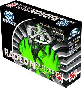 Sapphire Atlantis Radeon 9800 Pro, 256MB DDR2, DVI, TV-out, AGP, full retail (21016-01-42)