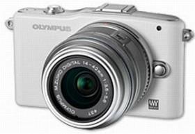 Olympus PEN E-PM1 weiß mit Objektiv M.Zuiko digital ED 12-50mm (V20601FWE000)
