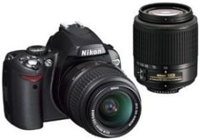 Nikon D40x schwarz mit Objektiv AF-S DX 18-55mm und 55-200mm (VBA170K002)