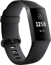Fitbit Charge 3 activity tracker black/aluminium/graphite grey (FB409GMBK)