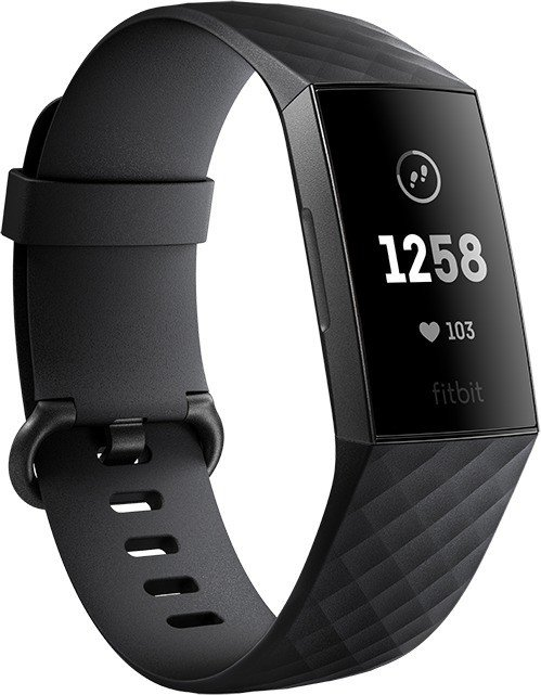 Fitbit Charge 3 Aktivitäts-Tracker schwarz/aluminium/graphitgrau (FB409GMBK)
