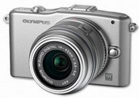 Olympus PEN E-PM1 silber mit Objektiv M.Zuiko digital ED 12-50mm (V20601FSE000)