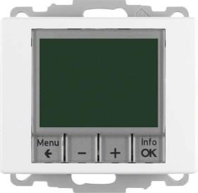 Berker Arsys Temperaturregler, Schließer, mit Zentralstück, zeitgesteuert, polarweiß glänzend, Unterputz (20440069)