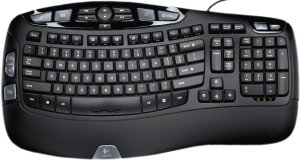 Logitech Wave Keyboard, USB, DE (920-000330)