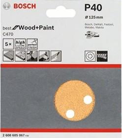 Bosch random orbit sander sheet C470 Best for Wood and Paint 125mm K40, 5-pack (2608605067)