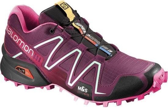 Salomon Speedcross 3, Damen Traillaufschuhe, Pink (Bordeaux/Hot Pink/Lotus Pink), 40 EU (6.5 Damen UK)