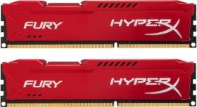 Kingston HyperX Fury red DIMM kit 8GB, DDR3-1866, CL10 (HX318C10FRK2/8)