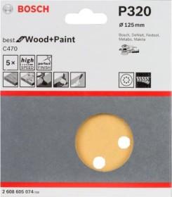 Bosch random orbit sander sheet C470 Best for Wood and Paint 125mm K320, 5-pack (2608605074)
