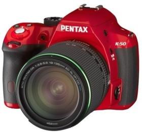 Pentax K-50 rot mit Objektiv DA 18-135mm WR (11007)