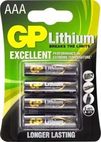 GP Batteries Lithium Micro AAA, 4er-Pack (07024LF-C4)