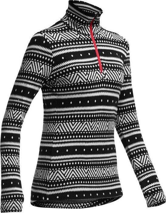 Icebreaker Vertex Fair Isle Half Zip Shirt long-arm Black/Garnet ...