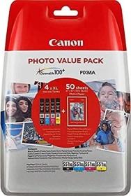 Canon Multipack CLI-551 XL schwarz/dreifarbig inkl. PP-201 (6443B006)