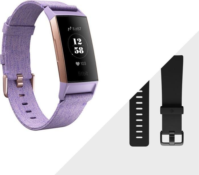 Fitbit Charge 3 Special Edition Aktivitäts-Tracker lavendel/aluminium/rosegold (FB410RGLV)