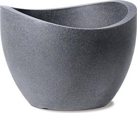 Scheurich Wave Globe Pflanzgefäß 60cm schwarz-Granit (53382 0)