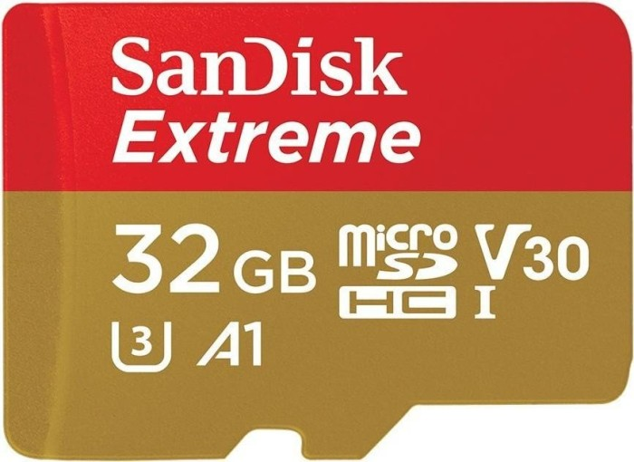 SanDisk Extreme R100 microSDHC 32GB Kit, UHS-I U3, A1, Class 10, 2er-Pack (SDSQXAF-032G-GN6AT)