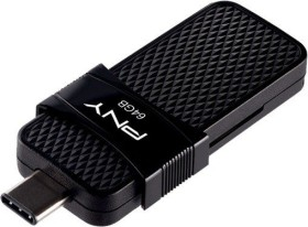 PNY Duo Link OTG Type C 3.1 64GB, USB-C 3.0/USB-A 3.0 (P-FD64GOTGSLTC-GE)
