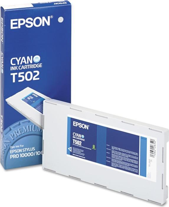 Epson T502 tusz błękitny (C13T502011)