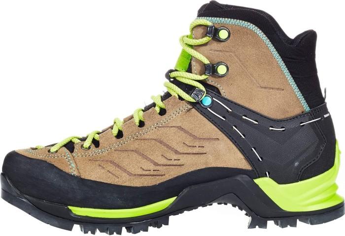 Salewa Mountain Trainer Mid Gtx® Beige, Damen Gore-Tex® Wanderschuh, Größe EU 40 - Farbe Walnut-Swing Green Damen Gore-Tex® Wanderschuh, Walnut - Swing Green, Größe 40 - Beige