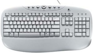 Logitech OEM Internet Keyboard weiß, PS/2, DE (967248-0102)