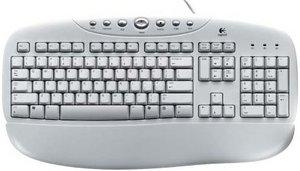 Logitech OEM Internet keyboard biały, PS/2, DE (967248-0102)