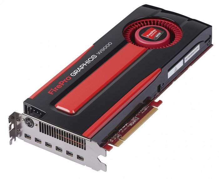 AMD FirePro W9000, 6GB GDDR5 ECC, 6x Mini DisplayPort, SDI (100-505632)
