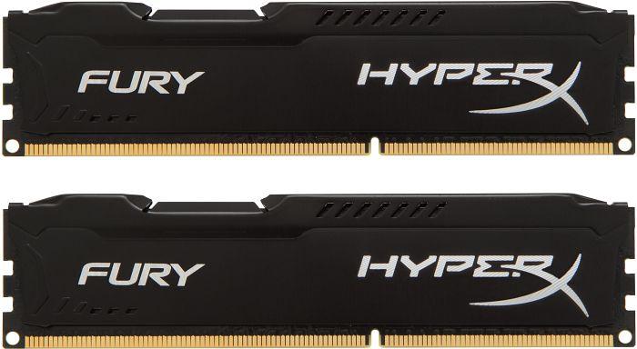 Kingston HyperX Fury black DIMM kit 8GB, DDR3-1333, CL9-9-9 (HX313C9FBK2/8)