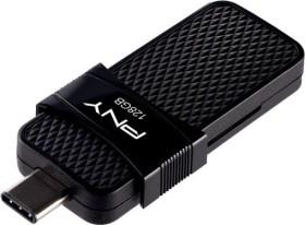 PNY Duo Link OTG Type C 3.1 128GB, USB-C 3.0/USB-A 3.0 (P-FD128OTGSLTC-GE)