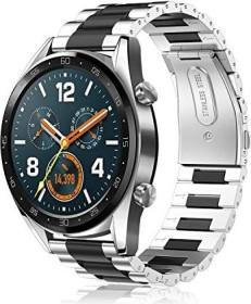 Fintie Gliederarmband für Huawei Watch GT 2 46mm silber/schwarz