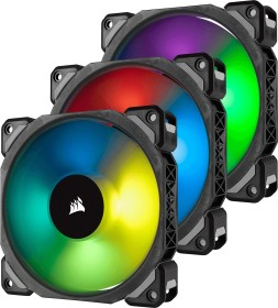 Corsair ML Series ML120 PRO RGB LED Premium Magnetic Levitation Fan, 120mm, 3er-Pack, LED-Steuerung (CO-9050076-WW)