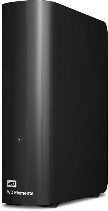 Western Digital WD Elements desktop black 10TB, USB 3.0 micro-B (WDBWLG0100HBK)