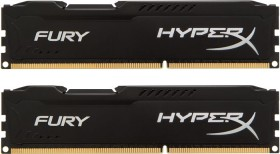 Kingston HyperX Fury schwarz DIMM Kit 16GB, DDR3-1600, CL10 (HX316C10FBK2/16)
