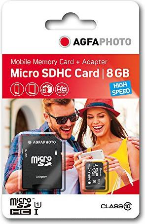 Lupus Imaging AgfaPhoto High Speed R45/W15 microSDHC 8GB Kit, UHS-I U1, Class 10 (10579) -- via Amazon Partnerprogramm